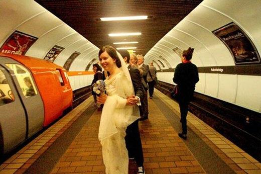 ببینید | جشن عروسی در مترو!