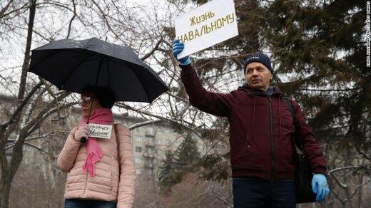 تظاهرات و بازداشت حامیان ناوالنی در روسیه