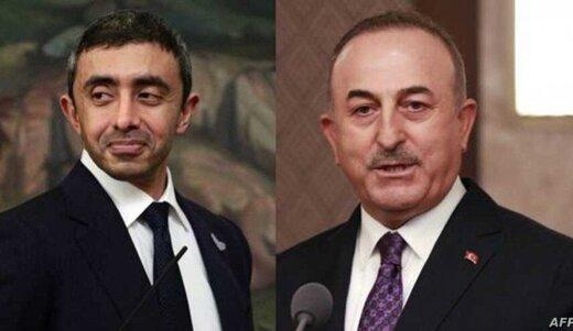 وزیران خارجه ترکیه و امارات پس از 4 سال گفتگو کردند