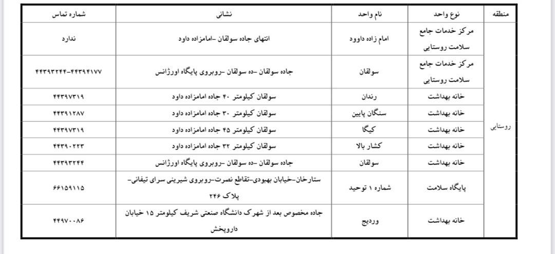 ثبتنام واکسیناسیون کرونای افراد بالای ۶۰ سال در تهران/ برای ثبتنام این جدولها را ببینید