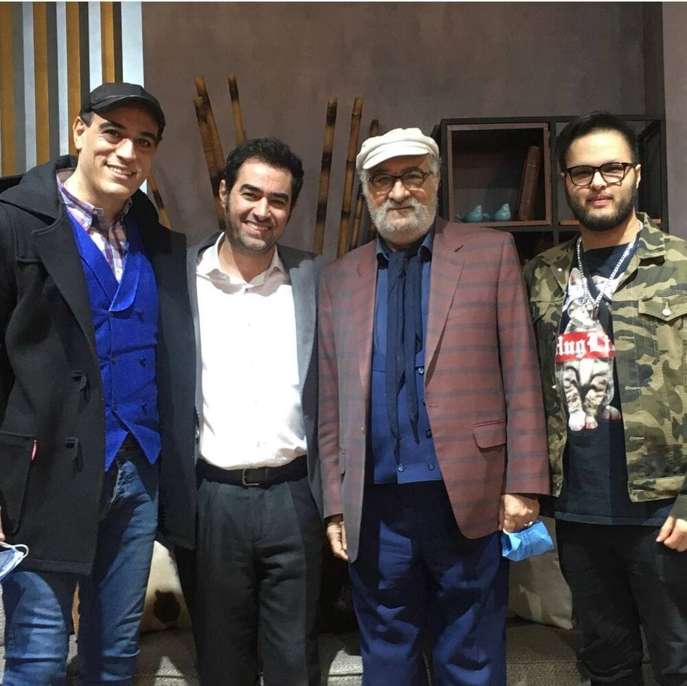عکس   شهاب حسینی و داریوش ارجمند در کنار پسرانشان