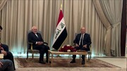 Zarif meets Iraqi president in Baghdad
