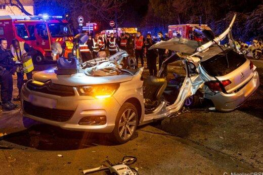 ببینید | اولین تصاویر از تصادف هولناک و مرگبار در فرانسه