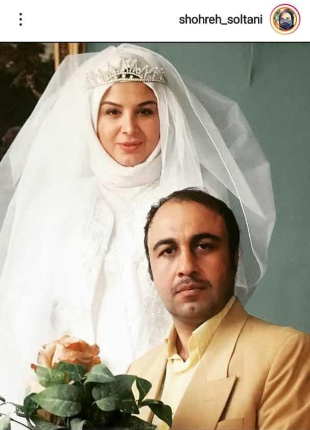 عکس   شهره سلطانی با لباس عروس در کنار رضا عطاران