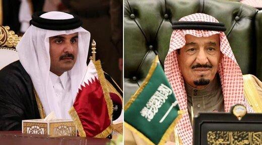 پیام تبریک شاه سعودی و بن سلمان به امیر قطر