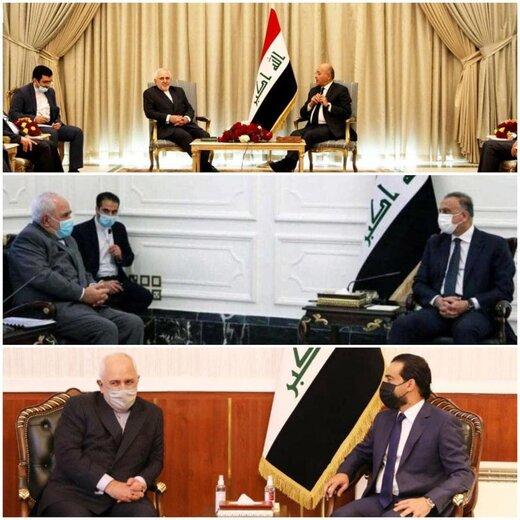 سفر ظریف به بغداد؛ سوژه داغ خبری در عراق و منطقه