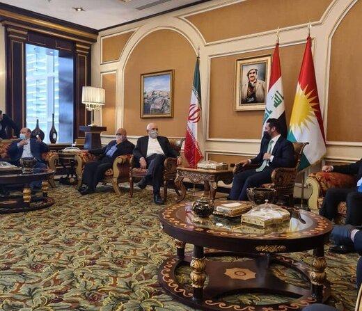 استقبال مقامات اقلیم کردستان عراق از ظریف در اربیل