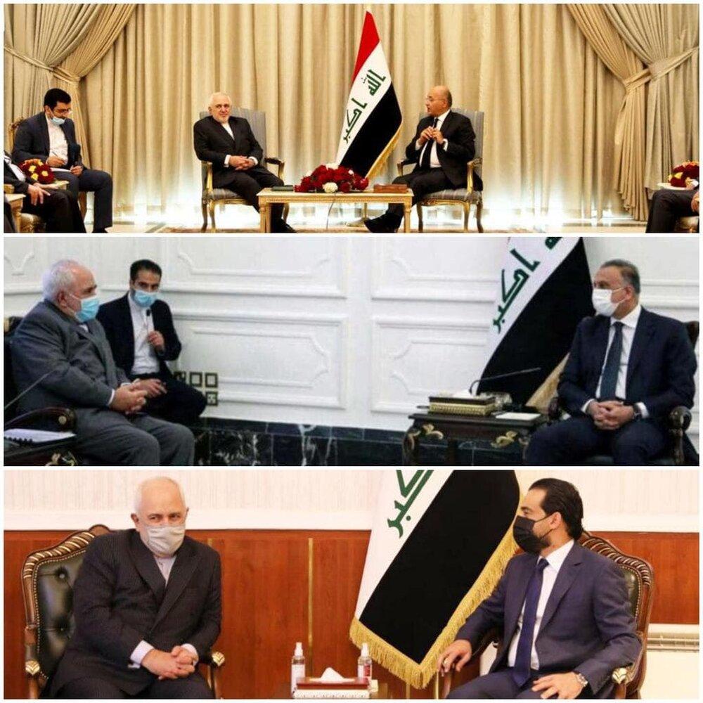 ظریف: اولویت ایران همسایگان است/استقبال از نقش محور عراق در منطقه/عکس