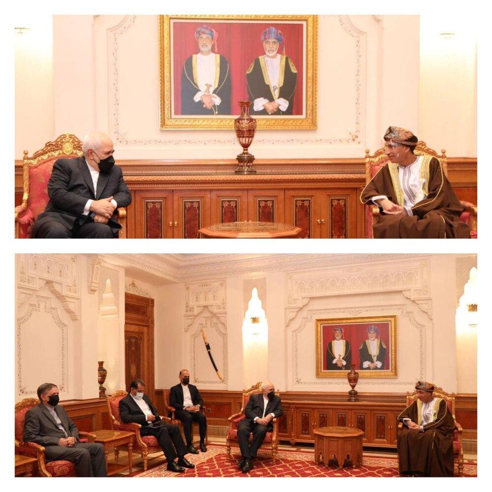 دیدار ظریف با معاون سلطان عمان/عکس