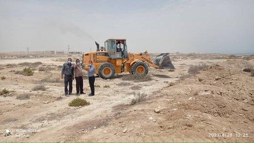 رفع تصرف ۴۶.۵هزار مترمربع اراضی خالصه دولتی به ارزش ۱۸۶.۲ میلیارد ریال در روستای ریگو قشم