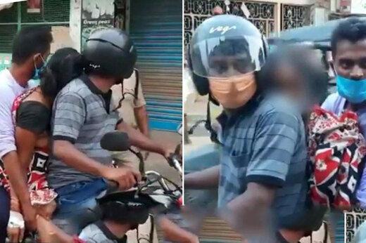 ببینید | ویدیوی جنجالی از حمل جنازه یک زن با موتورسیکلت در هند