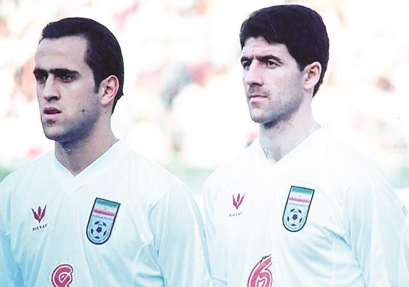 کریم باقری و علی کریمی  سالها قبل/عکس