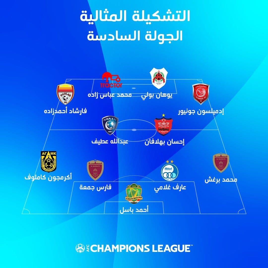 4 ایرانی در ترکیب هفته ششم لیگ قهرمانان آسیا/عکس