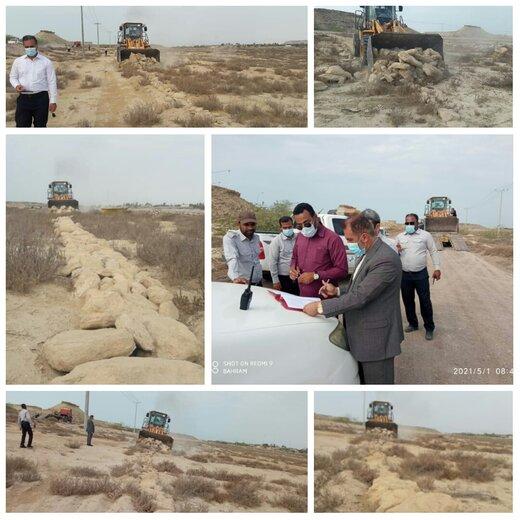 ۱۱هزارمترمربع اراضی خالصه دولتی به ارزش ۵.۵ میلیارد ریال در روستای کانی قشم رفع تصرف شد
