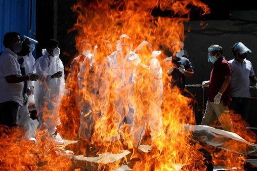 ببینید | جهنم کرونایی در هند