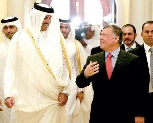 پیام امیر قطر به پادشاه اردن