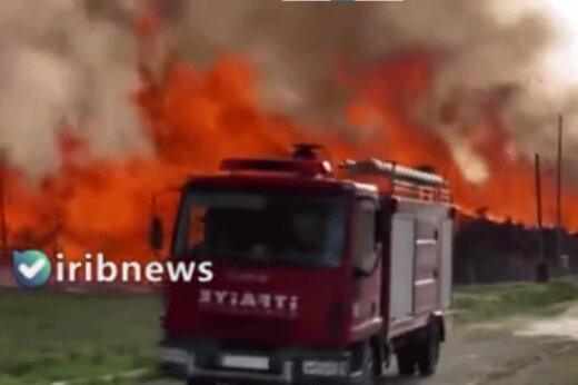 ببینید | آتشسوزی مهیب در نیروگاه بیوانرژی ترکیه