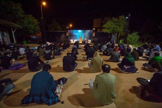 مراسم دومين شب قدر با رعایت فاصله گذاری اجتماعی - البرز