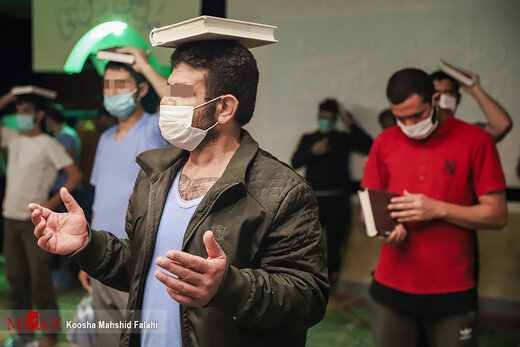 مراسم احیاء شب بیست و یکم ماه مبارک رمضان - زندان اوین