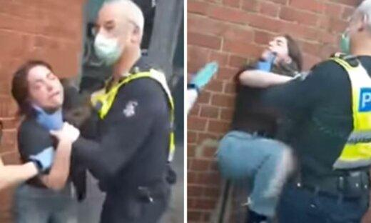 ببینید | لحظه ضرب و شتم یک دختر توسط پلیس اسپانیا