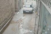 ببینید | لحظه فرو ریختن دیوار در پی بارش شدید باران در بشرویه