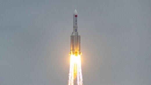 خطری بیخ گوش زمین/ موشکی در حال سقوط که محل فرود آن مشخص نیست
