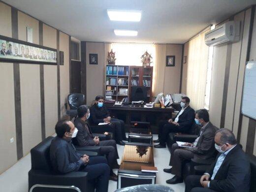 دیدار مدیر شعب بانک ملت استان با مدیر کل نوسازی مدارس لرستان