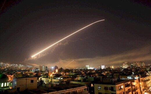 مقابله پدافند هوایی سوریه با حملات موشکی اسرائیل
