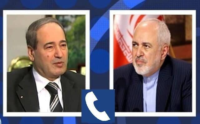 گفتگوی تلفنی وزیران خارجه ایران و سوریه