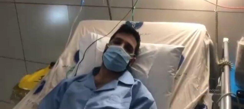 پیام حمید هیراد به هوادارانش از روی تخت بیمارستان
