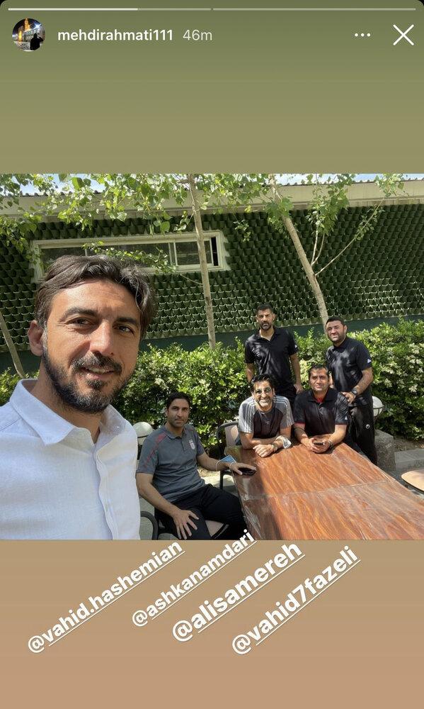 دیدار مهدی رحمتی با مربی تیم ملی/عکس