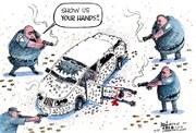 ببینید: حمله چهار پلیس برای دستگیری یک راننده!