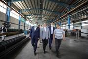 دبیرشورایعالی مناطق آزاد از کارخانه پروفیل چابهار دیدن کرد
