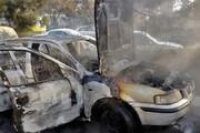 ببینید | آتشسوزی هولناک سمند در بزرگراه چمران