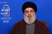 ببینید | نصرالله: آمریکا هیچگاه به خاطر اسرائیل با ایران نمیجنگد