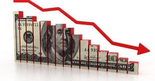 ریزش ارزش دلار در بازار