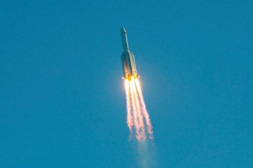 ببینید | اولین تصویر از موشک چینی در حال نزدیک شدن به زمین