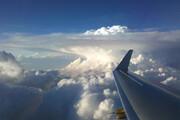 ببینید | تصاویر شگفت انگیز رعد و برق از نمای بالای ابرها