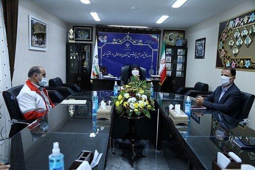 دیدار مدیرکل جمعیت هلال احمر استان چهارمحال و بختیاری با مدیرکل آموزش و پرورش به مناسبت هفته گرامیداشت مقام معلم