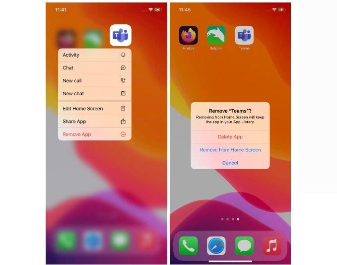 مخفی کردن اپلیکیشنها در هوم اسکرین آیفون