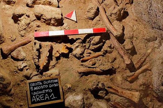 ببینید | کشف بقایای انسانهای نخستین در غارهای نزدیک شهر رم