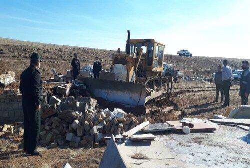 رفع تعرض ۶۳هزار مترمربع از اراضی دولتی قزوین
