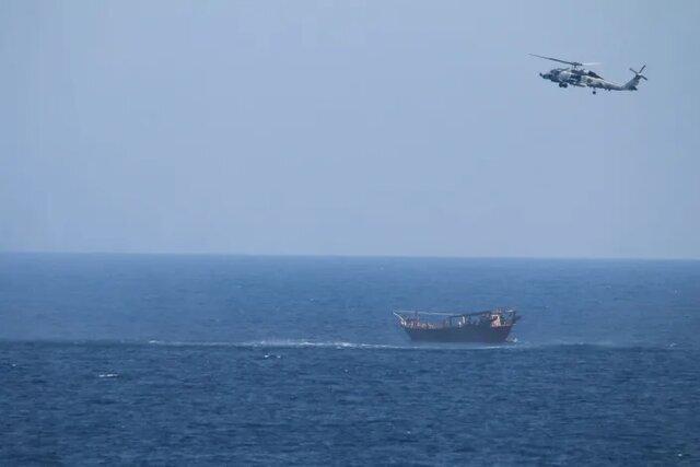 آمریکا یک محموله تسلیحاتی در دریای عرب که به سمت یمن میرفت را توقیف کرد