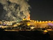 تصاویر   آتشسوزی در مسجدالاقصی