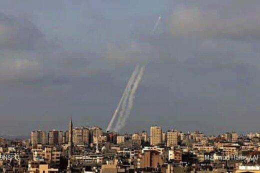 ببینید | لحظه شلیک 30 موشک مقاومت به اهداف صهیونیستی