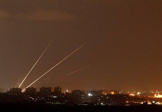 حمله موشکی نیروهای مقاومت فلسطین به سرزمینهای اشغالی