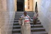 ببینید | شعارهای انتخاباتی کاندیدای کفنپوش ریاست جمهوری با فریاد در وزارت کشور