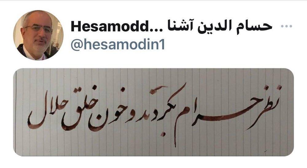 کنایه معنادار حسام الدین آشنا به مجلسی ها؛ نظر حرامبکردند و خون خلق حلال!