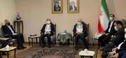 ظریف در جمع رهبران گروههای فلسطینی/عکس