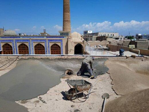 مرحله جدید مرمت مسجد جامع دامغان آغاز شد